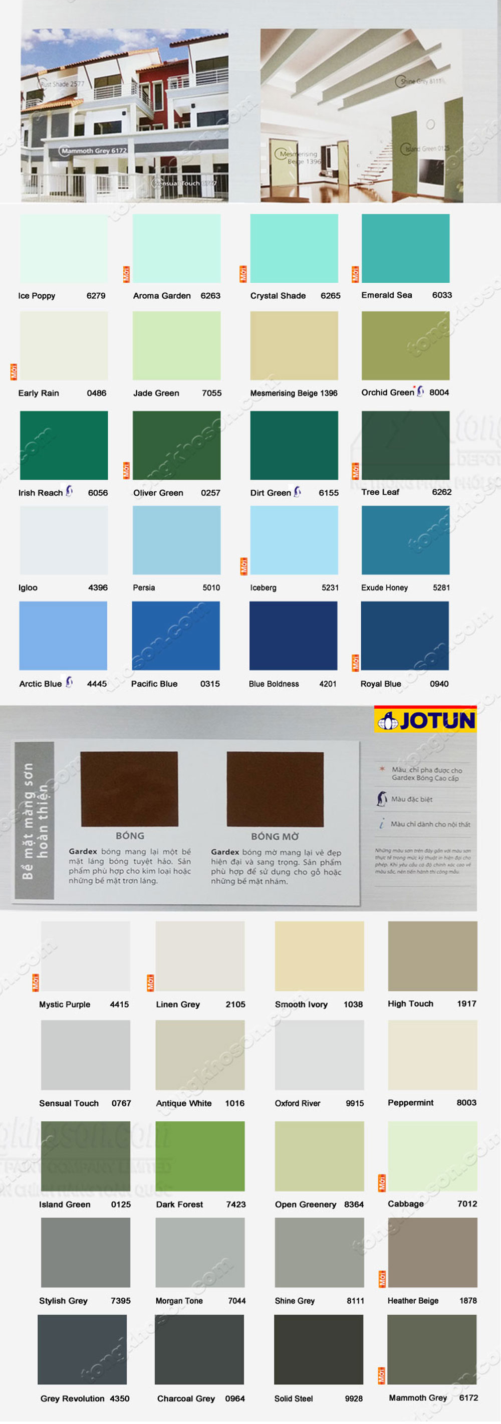 bảng màu sơn dầu jotun