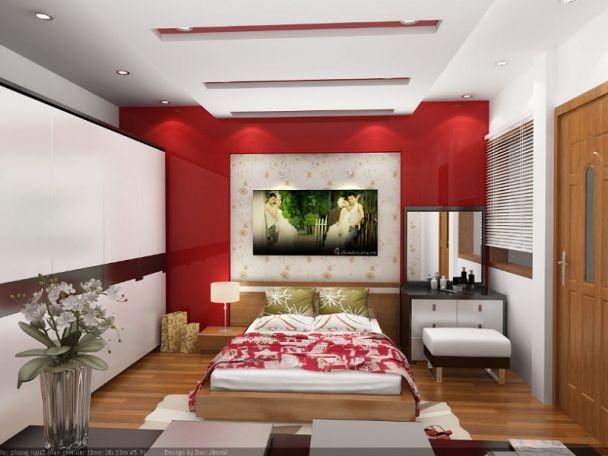 mẫu trần thạch cao phòng ngủ 3