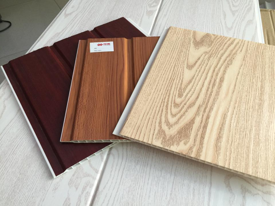 1 số mẫu tấm nhựa giả gỗ