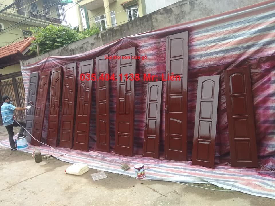 thợ sơn cửa gỗ hà nội