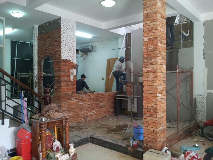Thợ xây trát cải tạo nhà
